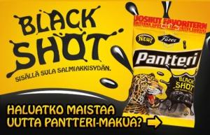 Kokeile ilmaiseksi Pantteri Black Shot karkkeja