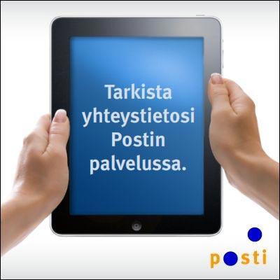 Tarkista Postilla olevat yhteystietosi ja voita iPad!