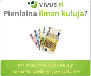 Ilmainen pikavippi 1 - 300 euroa (ei korkoja, ei kuluja, ensimmäinen laina)