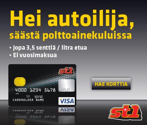 Tilaa St1 Visa -kortti maksutta