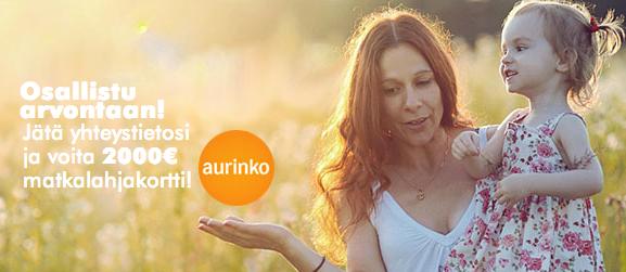 Voita 2000 euron arvoinen Aurinkomatkat -matkalahjakortti